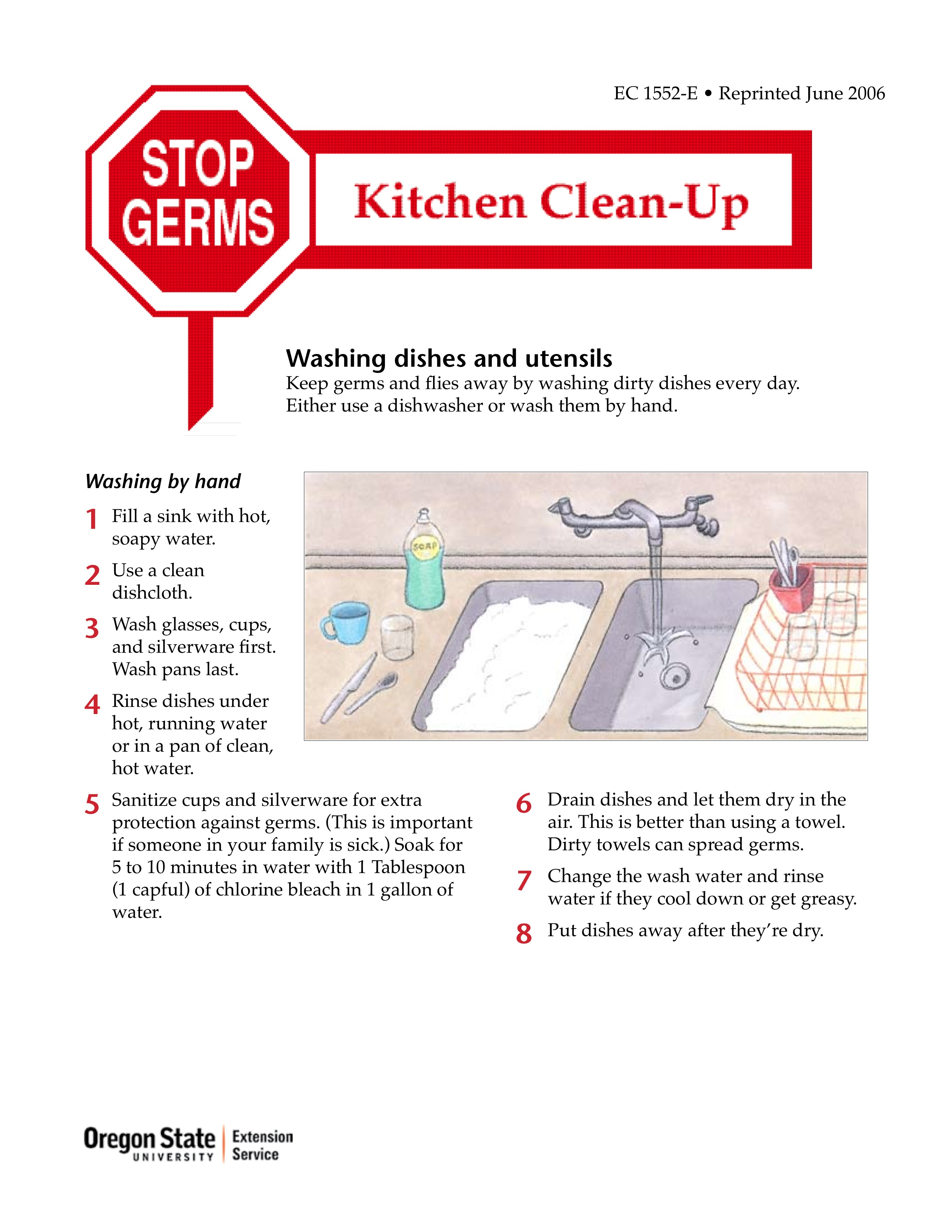 Stop Germs: Kitchen Clean-Up | OSU Extension Catalog | Oregon State ...
