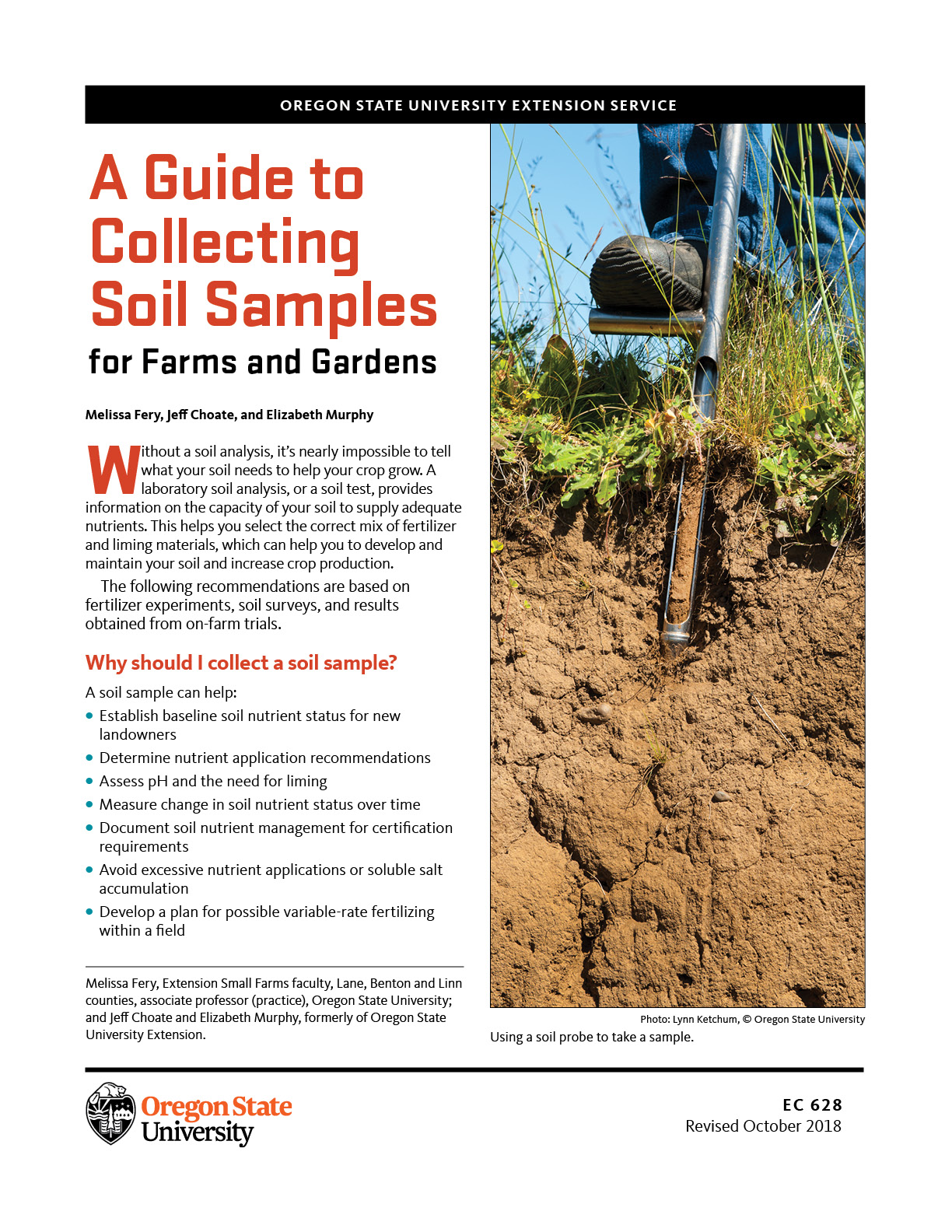 A Guide To Collecting Soil Samples For Farms And Gardens Osu