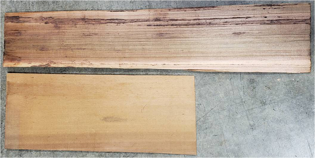 western redcedar shakes (top) and shingles (bottom)
