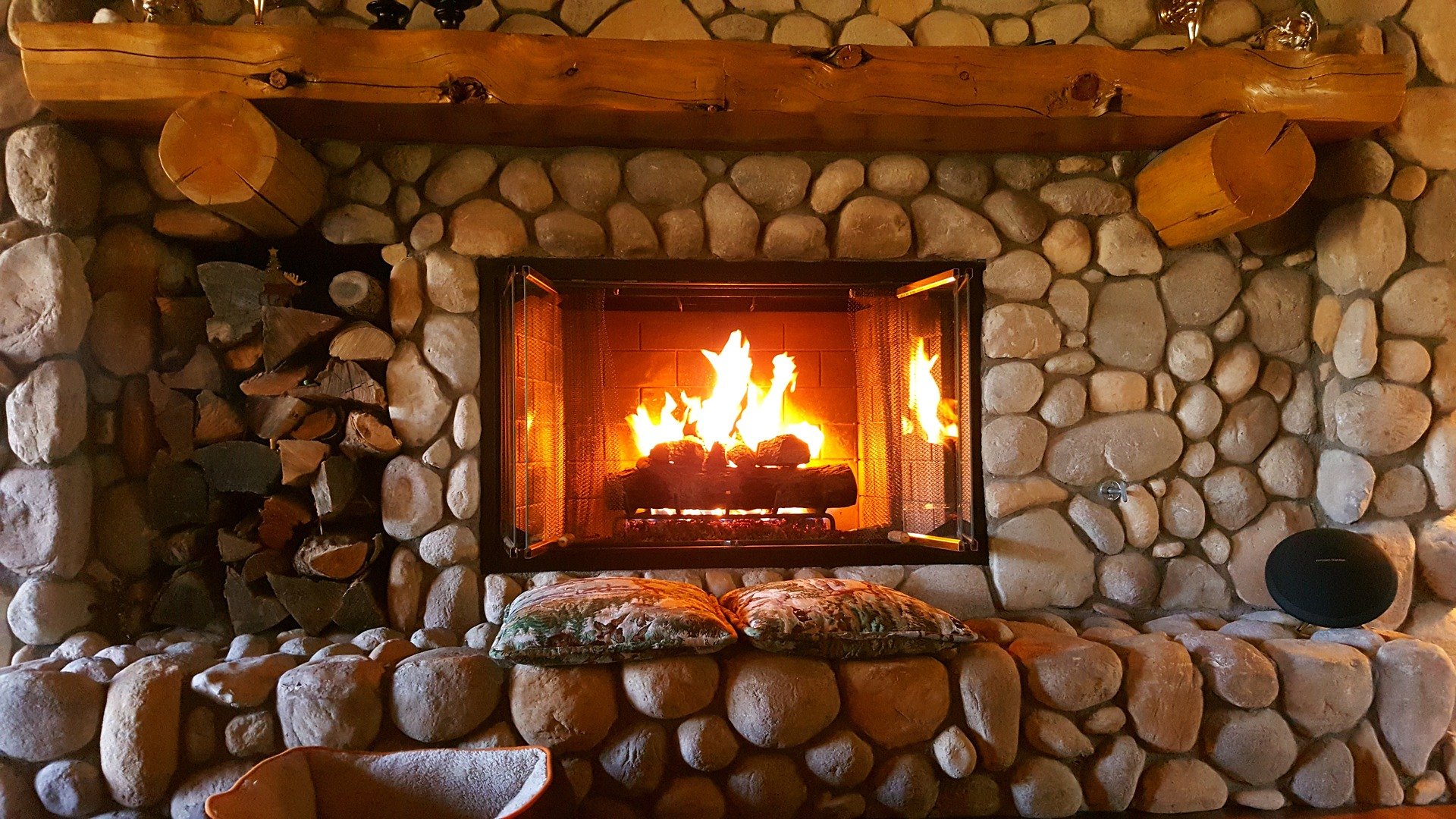 Fireplaces may not be capable of heating an entire home, so consider closing off rooms that aren't being used so living areas will be warmer.