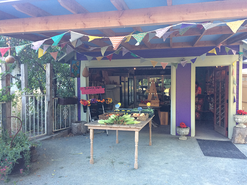 Create an inviting, shaded area for customers to shop.