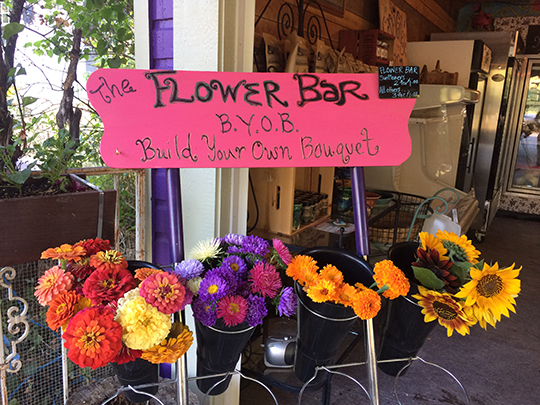 Selling fresh flowers is a way to keep customers coming back.