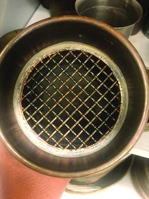 round sieve with grid