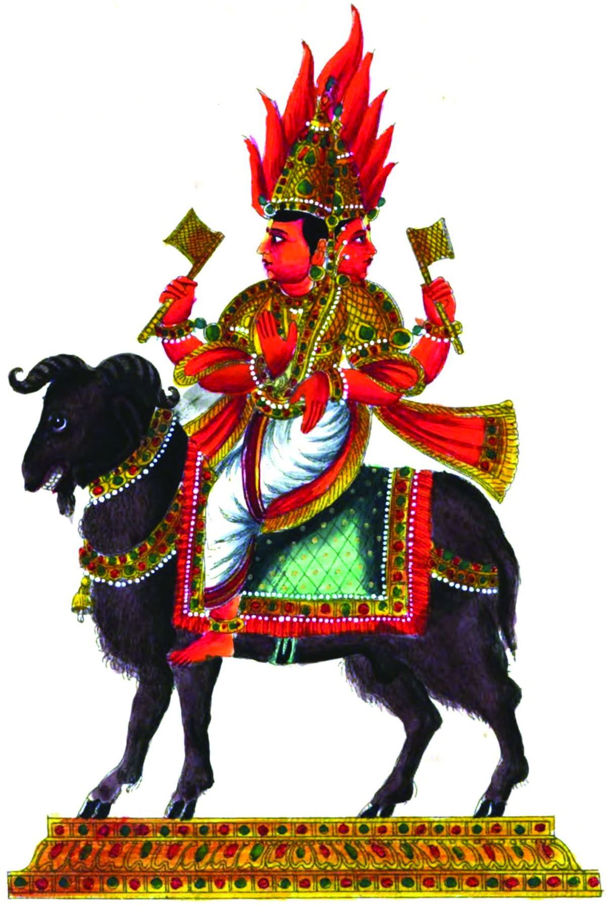 Figure 6. Agni, the god of fire.