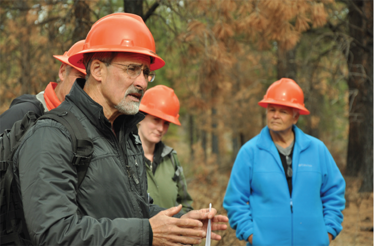 OSU Extension professor of practice Daniel Leavell teaches a class on wildfire.
