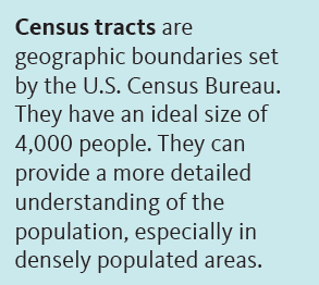 Sidebar with the definition of census tracts