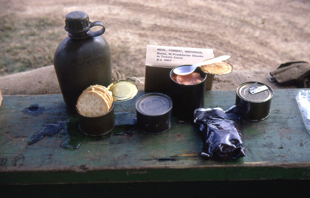 Figure 9. C rations typically used by firefighters decades ago.