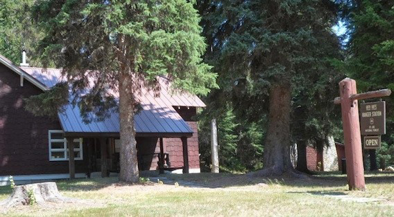 Figure 8. The Red Ives Ranger Station, now a historic cabin for rent on the rugged, upper St. Joe River.
