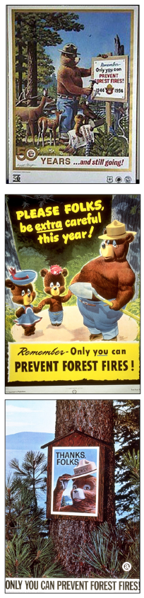Figure 11. Smokey Bear was created as the face of wildfire prevention during World War II.