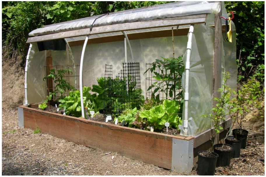 An 8x4-foot cloche used for growing vegetables, Newport, OR.