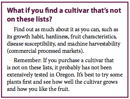 What if you find a cultivar that's not on these lists?