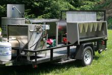 Mobile poultry slaughter trailer