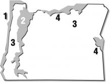 Where is your garden? Oregon is divided into four growing regions.