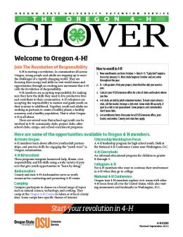 Image of The Oregon 4-H Clover publication