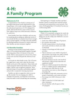 Image of 4-H: A Family Program publication