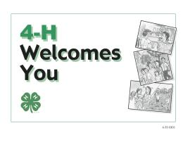 Image of 4-H Welcomes You/Bienvenidos publication