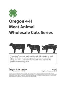 Image of Oregon 4-H Meat Animal Wholesale Cuts Series publication