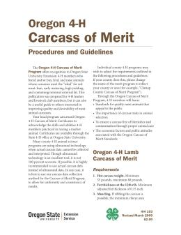 Image of Oregon Carcass of Merit Procedures and Guidelines publication