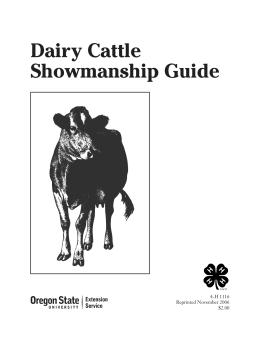 Image of Dairy Cattle Showmanship Guide publication