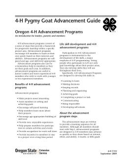 Image of 4-H Pygmy Goat Advancement Guide publication