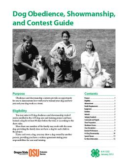 Image of Dog Obedience, Showmanship, and Contest Guide publication