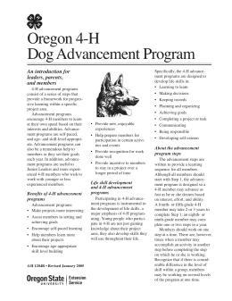 Image of Oregon 4-H Dog Advancement Program publication