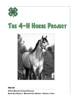 Image of 4-H Horse Project publication
