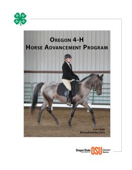 Image of Oregon 4-H Horse Advancement Program publication