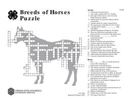 Image of Breeds of Horses Puzzle publication