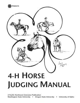 Image of 4-H Horse Judging Manual publication