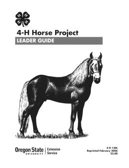 Image of 4-H Horse Project Leader Guide publication