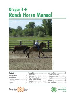 Image of Oregon 4-H Ranch Horse Manual publication