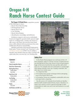 Image of Oregon 4-H Ranch Horse Contest Guide publication