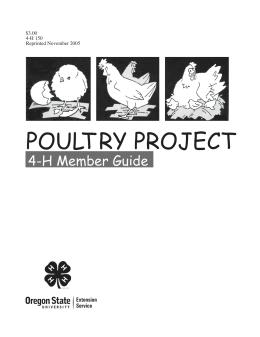 Image of 4-H Poultry Project Member Guide publication