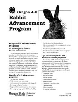 Image of Oregon 4-H Rabbit Advancement Program publication