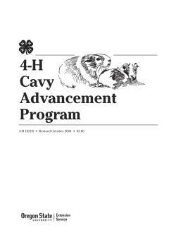 Image of 4-H Cavy Advancement Program publication