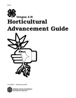 Image of Oregon 4-H Horticultural Advancement Guide publication