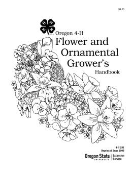 Image of Oregon 4-H Flower and Ornamental Grower's Handbook publication