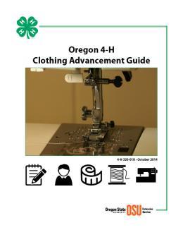 Image of Oregon 4-H Clothing Advancement Guide publication