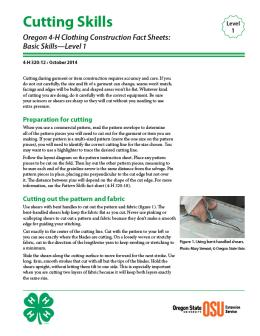 Image of Oregon 4-H Clothing Construction Fact Sheet: Cutting Skills publication