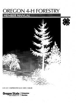 Image of Oregon 4-H Forestry Member Manual  publication