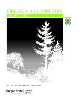 Image of Oregon 4-H Forestry Leader Guide  publication