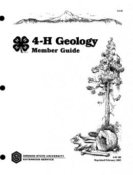 Image of 4-H Geology Member Guide publication