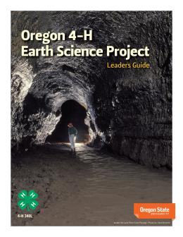 "cover image of ""Oregon 4-H Earth Science Project Leader Guide"""