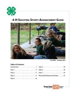 Image of 4-H Shooting Sports Advancement Guide publication