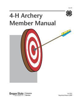 Image of 4-H Archery Member Manual publication