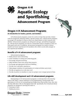 Image of Oregon 4-H Aquatic Ecology and Sportfishing Advancement Program publication