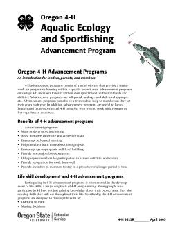 Image of Oregon 4-H Aquatic Ecology and Sportfishing Advancement Program publication