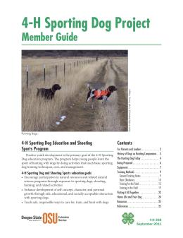 Image of 4-H Sporting Dog Project Member Guide publication