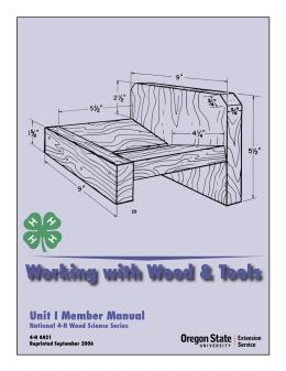 Image of Working with Wood and Tools: Unit 1 Member Manual publication